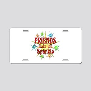 Friends Sparkle Aluminum License Plate