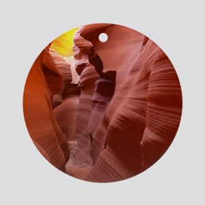 The Lower Antelope Slot Canyon Round Ornament