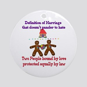 Gay Marriage Ornament (Round)