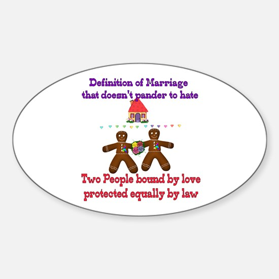 Gay Marriage Oval Decal