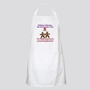 Gay Marriage BBQ Apron