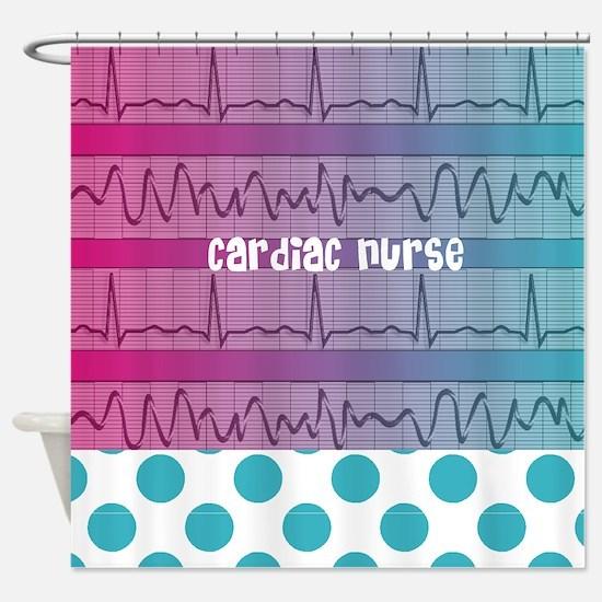 Cardiac Nurse all over shirt Shower Curtain