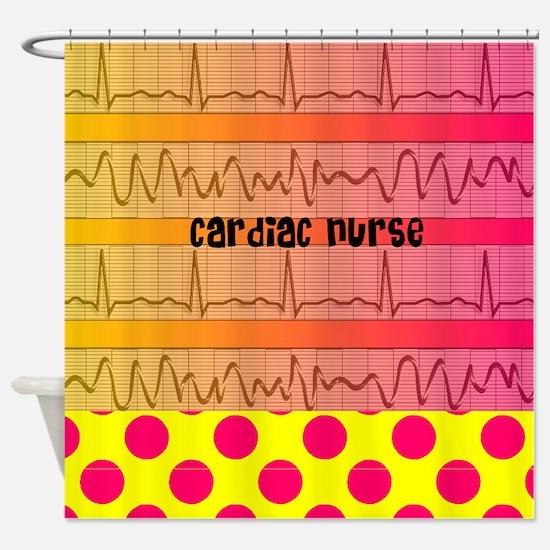 Cardiac Nurse all over shirt 2 Shower Curtain