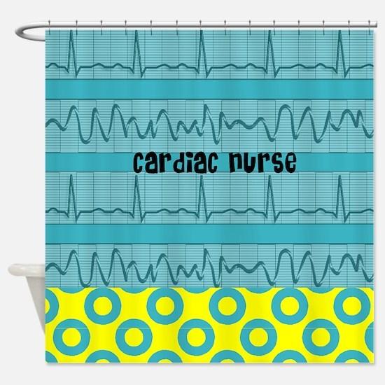 Cardiac Nurse all over 3 Shower Curtain