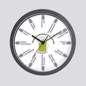 Where is it 5:00? EST edition Wall Clock
