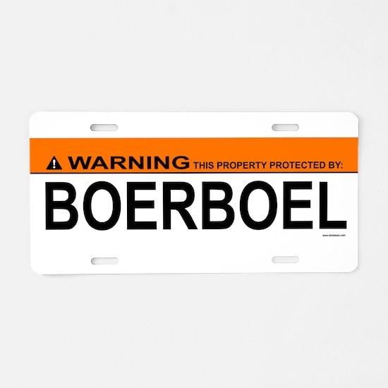 Unique Boerboel Aluminum License Plate