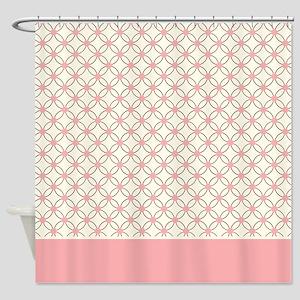 Brown Circles & Pink Dots 2 Shower Curtain