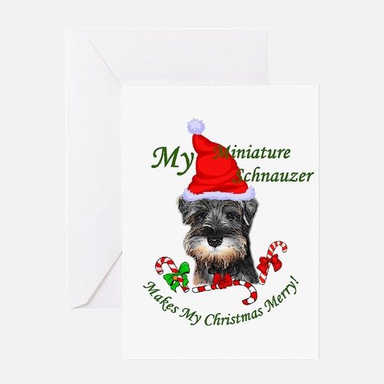 Miniature Schnauzer Christmas Greeting Card