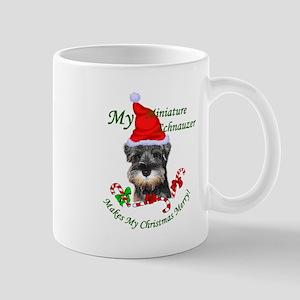 Miniature Schnauzer Christmas 11 oz Ceramic Mug