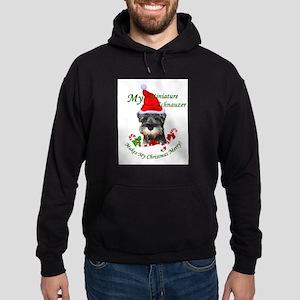 Miniature Schnauzer Christmas Hoodie (dark)