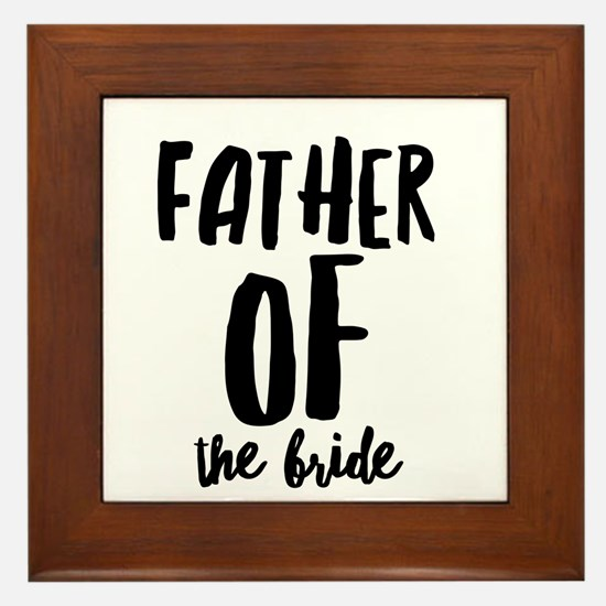 Wedding Party- Father of the Bride Framed Tile
