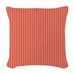 Watermelon stripes [red] Woven Throw Pillow