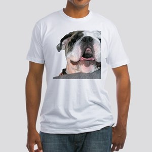 Bulldog Face Fitted T-Shirt