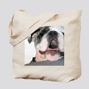 Bulldog Face Tote Bag
