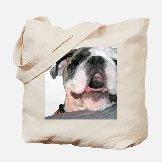 Bulldog Face Tote Bag