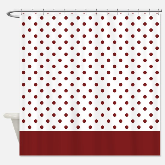 White with Red Dots 2 Shower Curtain