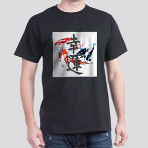 "Kanji ""Good Fortune"" w/ Koi T-Shirt"