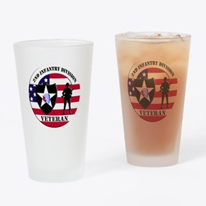 2nd Infantry Division Veteran Drinking Glass