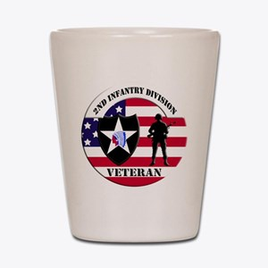 2nd Infantry Division Veteran Shot Glass