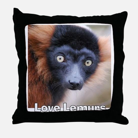 Love Lemurs Throw Pillow
