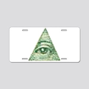 ALL Seeing EYE X Aluminum License Plate