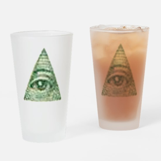 ALL Seeing EYE X.psd Drinking Glass
