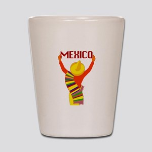 Vintage Mexico Travel Shot Glass
