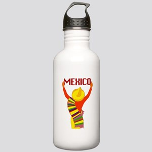 Vintage Mexico Travel Water Bottle