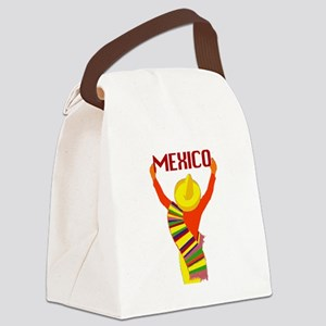 Vintage Mexico Travel Canvas Lunch Bag