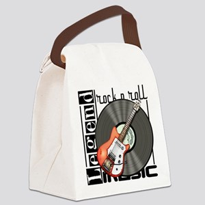 Vintage Guitar Canvas Lunch Bag