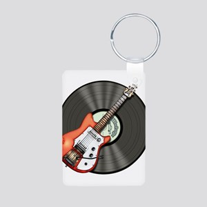 Vintage Guitar Aluminum Photo Keychain
