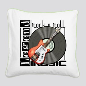 Vintage Guitar Square Canvas Pillow