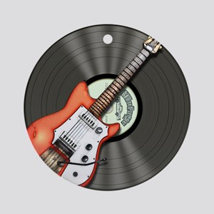 Vintage Guitar Ornament (Round)