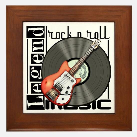 Vintage Guitar Framed Tile