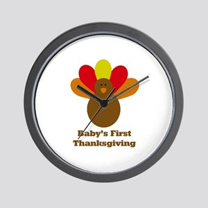 Baby's first thanksgiving Wall Clock