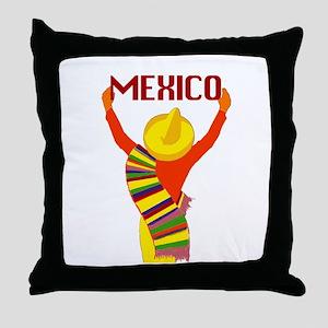 Vintage Mexico Travel Throw Pillow