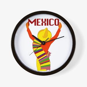 Vintage Mexico Travel Wall Clock