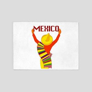 Vintage Mexico Travel 5'x7'Area Rug