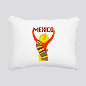 Vintage Mexico Travel Rectangular Canvas Pillow