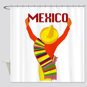 Vintage Mexico Travel Shower Curtain