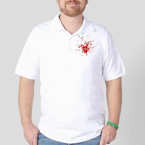 gundhot with splatter Golf Shirt