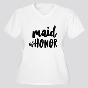 Wedding Party- Maid of Honor Plus Size T-Shirt