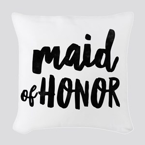 Wedding Party- Maid of Honor Woven Throw Pillow