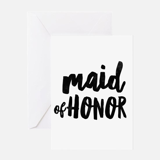 Wedding Party- Maid of Honor Greeting Cards