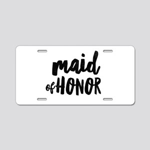 Wedding Party- Maid of Hono Aluminum License Plate