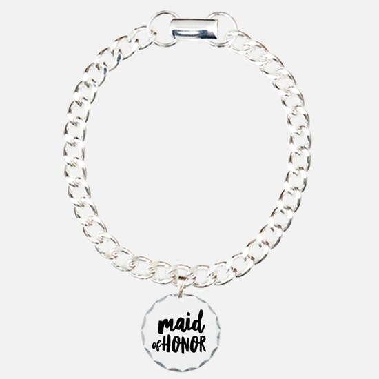 Wedding Party- Maid of H Bracelet