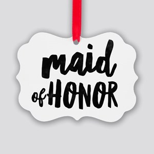 Wedding Party- Maid of Honor Picture Ornament
