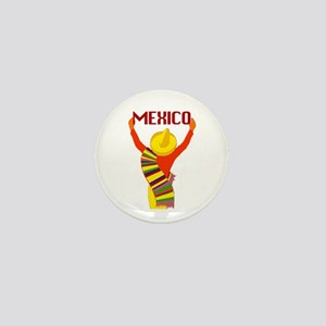 Vintage Mexico Travel Mini Button