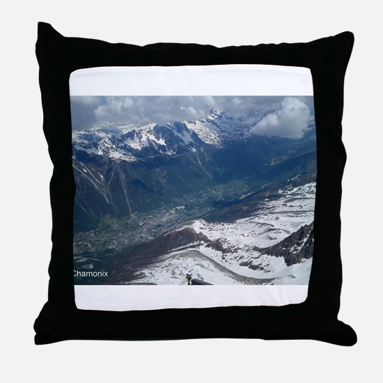 Chamonix Valley View Throw Pillow