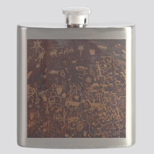 Newspaper Rock Petroglyph Flask
